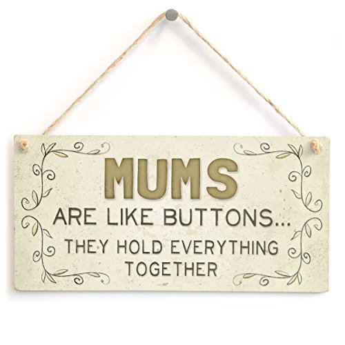 Meijiafei Mums are Like Buttons. They Hold Everything Together - Cute Home Accessory Gift Sign for Mothers 10