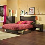 Product review for South Shore Back Bay Dark Chocolate Queen Wood Storage Platform Bed 3 Piece Bedroom Set