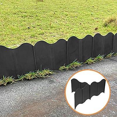 Xatan Garden Edging Border Flexible Lawn Edging Interlocking Landscaping Edging (20 Pack)