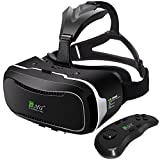 DMG Virtual Reality Headset with Advanced Controller, DMG 3D VR Adjustable Glasses Virtual Reality Box for iPhone 7 Plus 6 Plus 6s, all Smartphone