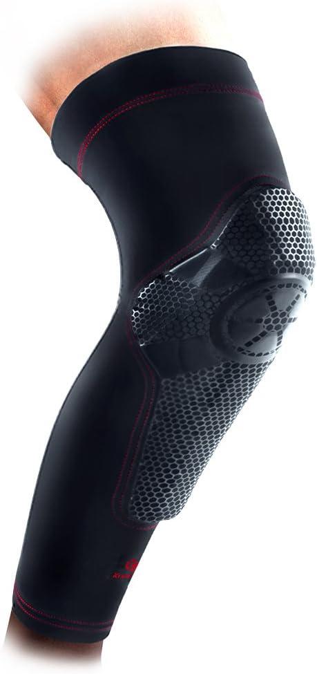 Kuangmi Basketball Knee Pad Compression Sleeve Shin Guard Kneepad for Women Men Youth Child Single