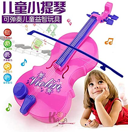 Color : Upgraded version ACHKL Magic violin toy simulation violin playing baby music enlightenment education with music lights ACHKL