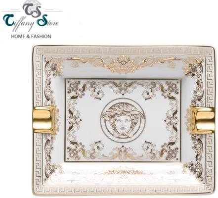 Versace Posacenere Cm 13 Medusa Gala Amazon It Casa E Cucina
