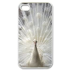 HOPPYS Customized Print Peacock Pattern Back Case for iPhone 4/4S