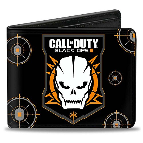 Skull Icon - Buckle-Down Men's Wallet Call Of Duty-black Ops Iii/skull Icon/targets Black/o Accessory, -Multi, One Size