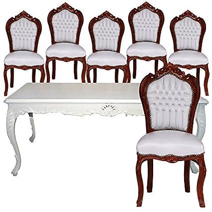 Decobay.eu Mesa de comedor de 6 sillas barroco comedor Juego ...