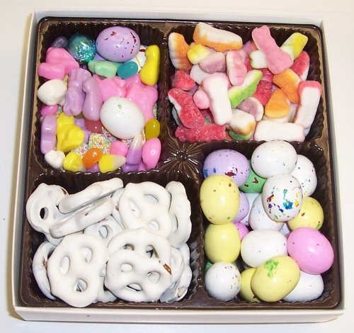 Scott's Cakes Large 4-Pack Sour Bunnies, Deluxe Easter Mix, Chocolate Malt Eggs, & White Pretzels