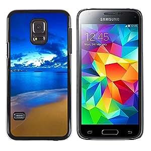 TopCaseStore / la caja del caucho duro de la cubierta de protección de la piel - Nature Beautiful Forrest Green 60 - Samsung Galaxy S5 Mini, SM-G800, NOT S5 REGULAR!