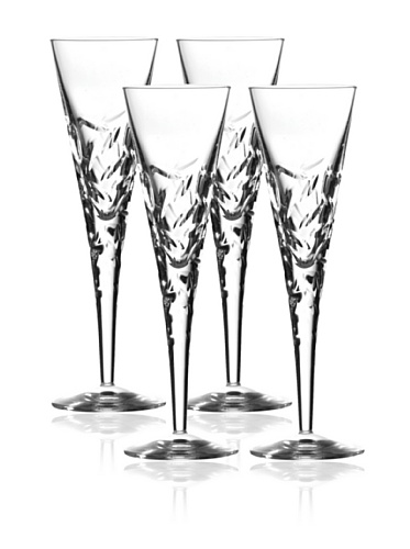 Royal Doulton Crystal Glasses, Set of 4 Flutes 160 Ml Central Park Collection