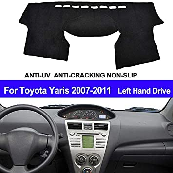 XUKEY Dashboard Cover for Toyota Yaris 2006-2011 Dash Cover Mat