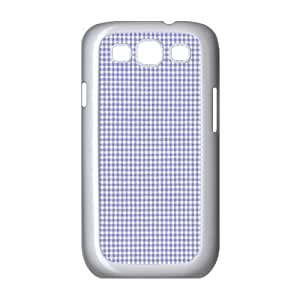 Custom Check Pattern Back Cover Case for SamSung Galaxy S3 I9300 JNS3-078
