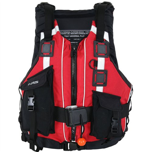 NRS Rapid Rescuer PFD Red One Size (Rescue Life Vest)