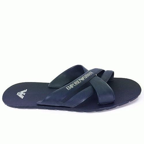 6993cce07ef EA7 Emporio Armani Navy Rubber Flip Flop Sandals 6.5(40)  Amazon.co.uk   Shoes   Bags