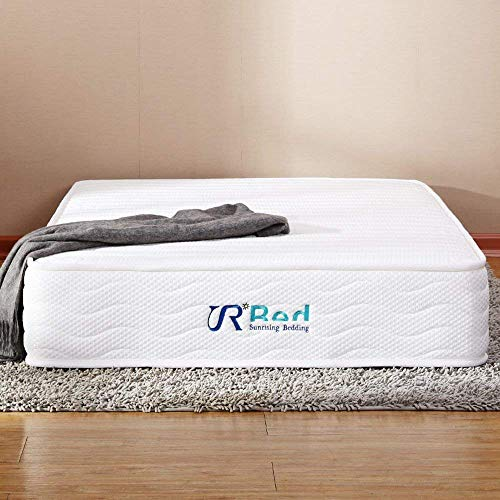 SunrisingBedding 8 inch Natural Latex Mattress & Independently Encased Coils Innerspring Hybrid Mattress California King Size,Not Sagging and Sink,120 Day Free - King Mattress Latex California