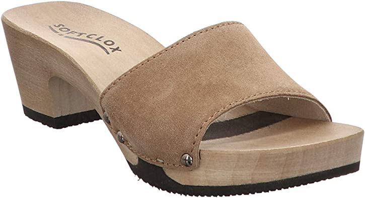 Softclox | Kelly | Pantolette braun | Zimt, Farbe:braun