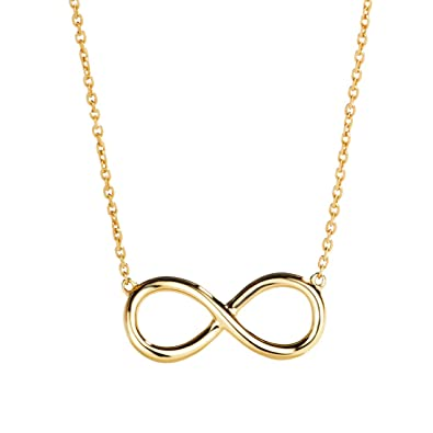 7d02059056abd Carleen 14K Solid Yellow Gold Well Crafted Infinity Pendant Necklace Fine  Jewelry Gifts for Women Girls with 16+2'' Solid Gold Chain
