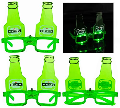 Beer Make Goggles (2Pack LED St. Patrick's Day Eye Glasses Beer Costume Goggles Party Accessory)