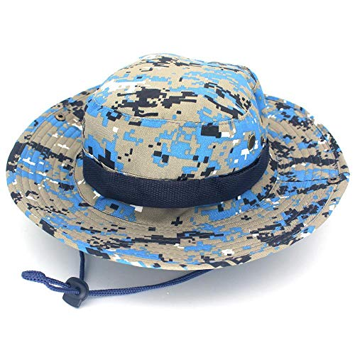 fanhangxuan Camouflage Bonnet Outdoor Fisherman hat Camouflage Bonnet Jungle, Marine Digital, 58-60cm