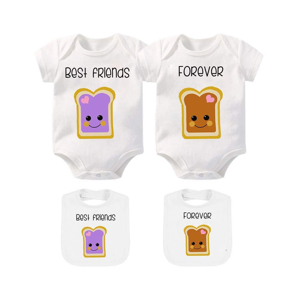 YSCULBUTOL Baby Boy Girl Coming Home Outfit Bibs Funny Baby Bodysuit Cute Onesie Baby Romper