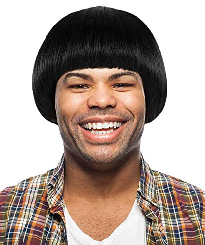 60's Iconic Bob Wig, Black Adult HM-270