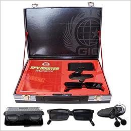 spy master briefcase black spy kit secret agent mission handbook with top spy gear and gadget. Black Bedroom Furniture Sets. Home Design Ideas