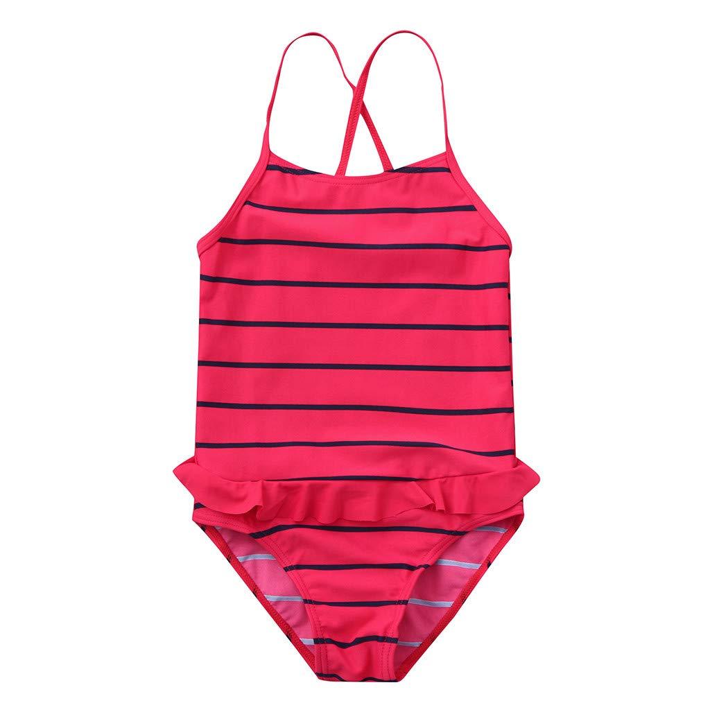 Culater Bambino Piccolo / Bambini Ragazze A Strisce / Sparkle Stampato / Bikini con Un Paio di Pezzi Costumi da Bagno per Bambini Costumi da Bagno Bikini Outfits