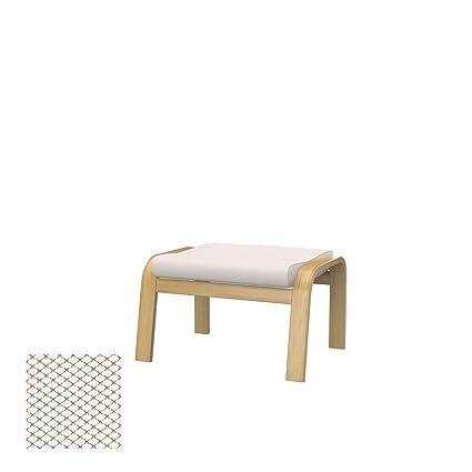 Soferia - IKEA POÄNG Funda para reposapiés, Nordic White: Amazon.es ...