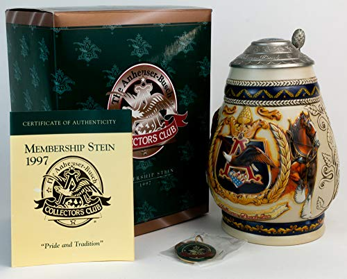 Budweiser Anheuser-Busch Collectors Club Members Only Stein 1997