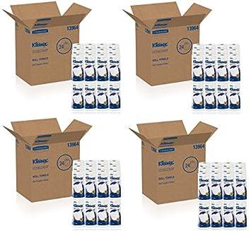 Kleenex toallas toallas de papel de cocina Premier (13964), suavidad de tela, perforado, 24 Rolls/Case, 70 toallas de papel kleenex/rollo: Amazon.es: Hogar
