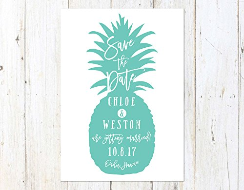 Tropical Save the Date, Pineapple Save the Date, Fun Destination Wedding Save the Date -