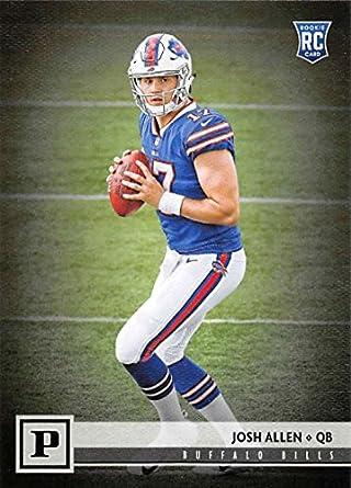 Amazon.com  2018 Panini NFL Football  307 Josh Allen Buffalo Bills ... e7debf0b9