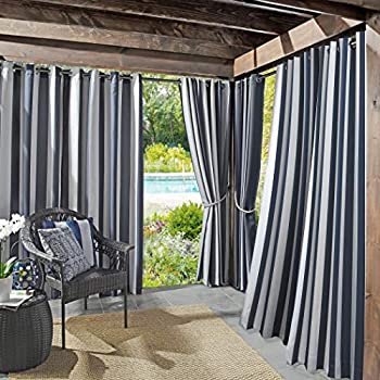 Sun Zero Valencia UV Protectant Indoor Outdoor Curtain Panel, 54