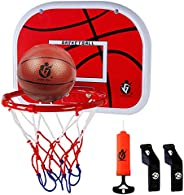 Dreamon Kids Basketball Hoop Set,Wall Mounted with Air Pump Backboard Net and Ball Portable Sports Toy Indoor