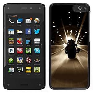 // PHONE CASE GIFT // Duro Estuche protector PC Cáscara Plástico Carcasa Funda Hard Protective Case for Amazon Fire Phone / BAT SUPERHERO BIKE /