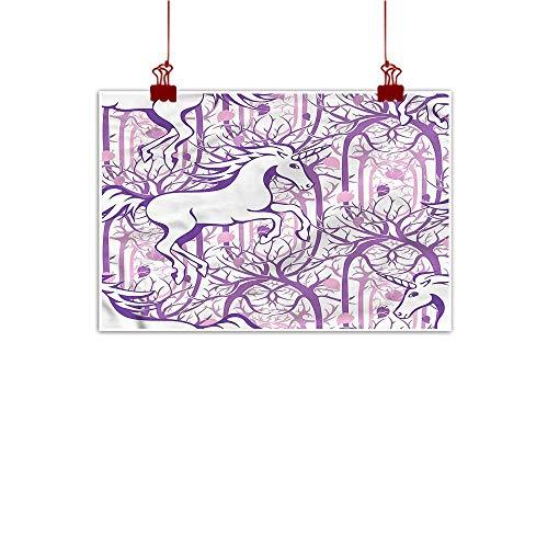 Mangooly Decorative Music Urban Graffiti Art Print Unicorn,Magic Fairytale Forest 32