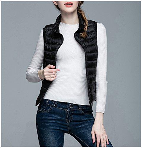 Glamorstar Women's Outdoor Puffer Vest Lightweight Cotton Packable Winter Coat Black XXXX-Large