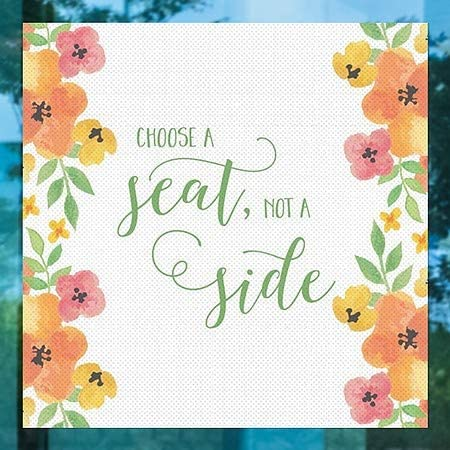 Choose A Seat Square Perforated Window Decal CGSignLab 24x24 Warm