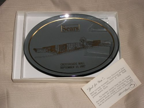 Sears Commemorative Oval Plate 22K Gold Fired Design Crossroads Mall (Kalamazoo, MI) September 15, - Kalamazoo Malls