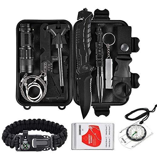 - YIYISHUN Outdoor Survival Gear Kit, Camping Survival Tool with Survival Pen, Fire Starter