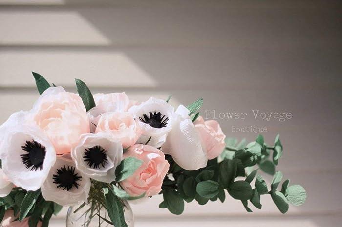 Amazon Com Paper Flower Bouquet Ashley Crepe Paper Peonies