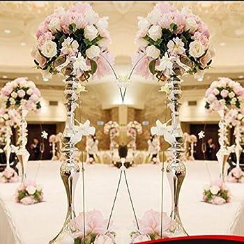 Amazon.com: Gold Crystal Globe 5 Arm Candelabras Wedding ...