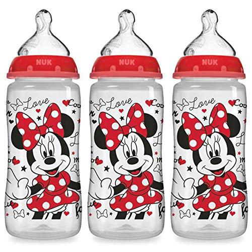 NUK Disney Baby Bottle, Minnie Mouse, 10oz 3pk