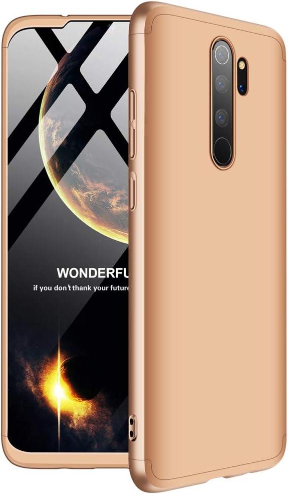 CE-Link para Funda Xiaomi Redmi Note 8 Pro Carcasa Fundas 360 Grados 3 en 1 Desmontable Ultra-Delgado Anti-Arañazos Case Protectora - Oro