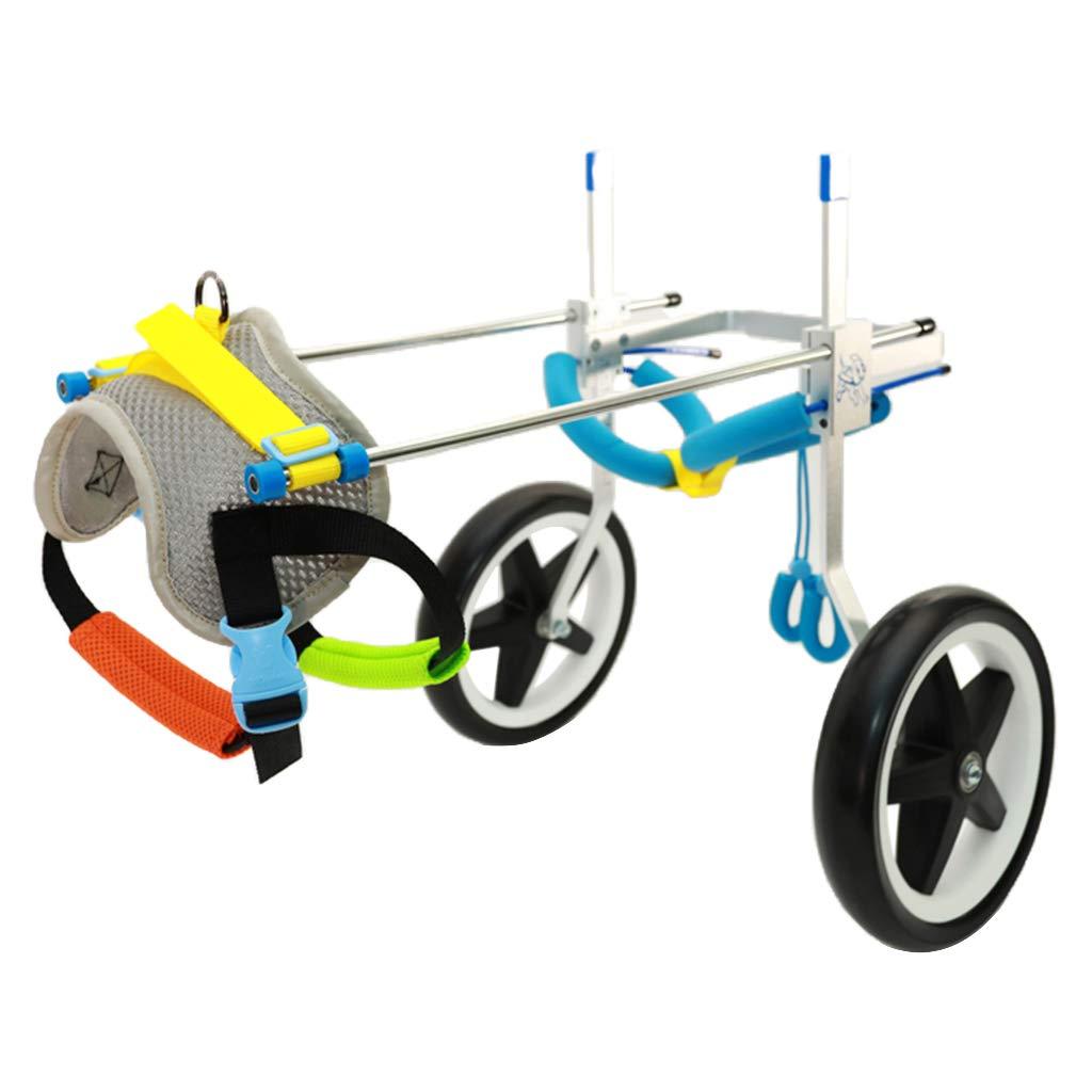 M Perfeclan Adjustable Pet Dog Wheelchair Hind Legs Rehabilitate Dog Cat Outdoor Indoor Walking XS-L M