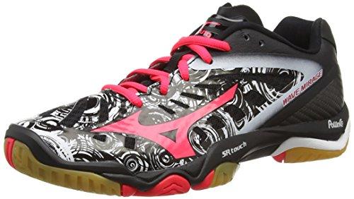 Mizuno Wave Mirage - Zapatillas Mujer Negro (Black/Diva Pink/White)