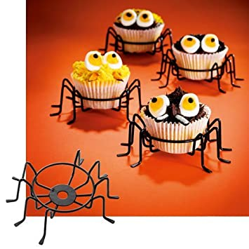 cupcake holder metal wire spider cupcake stands set of 4 the perfect cupcake carrier - Halloween Cupcake Holder