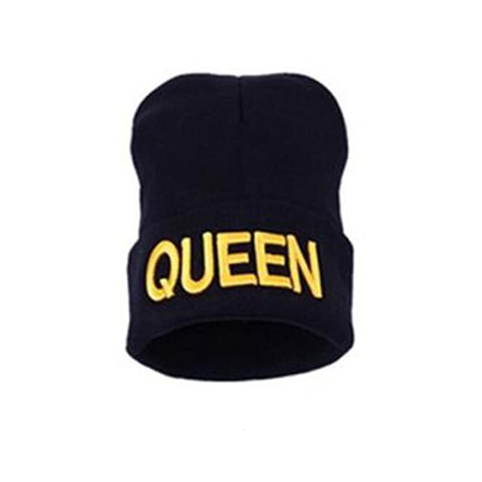 Morbuy Gorras Mujer, Mujer Cable Knit diseño Reloj Cap Letter King ...