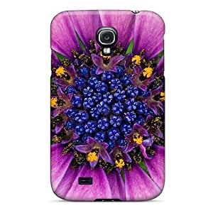 LastMemory Case Cover Galaxy S4 Protective Case Amazing Purple Flower