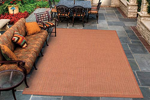 Couristan 1001/4000 Recife Saddle Stitch Terra Cotta/Natural Rug, 2-Feet by 3-Feet 7-Inch (Terra Cotta Rug)