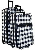 Plaid 2-Piece Luggage Set